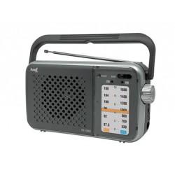 Radio Sami RS12901 con asa funciona con luz y a pilas