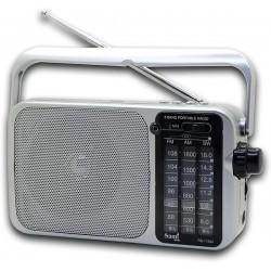 Radio Sami RS-11802 batería recargable, entrada USB Micro SD Auriculares con asa AM/FM/SW