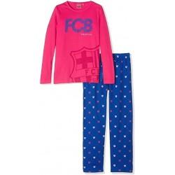 Pijama rosa niña del Fútbol Club Barcelona invierno