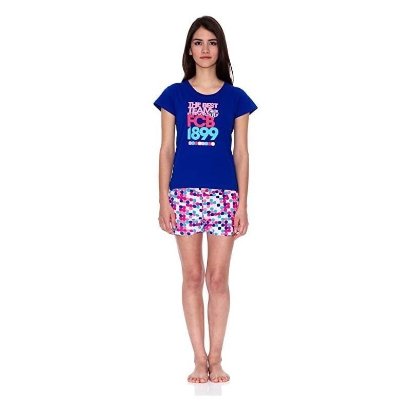 Pijama del Fútbol Club Barcelona niña rosa verano