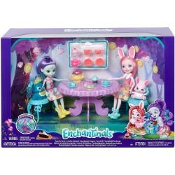 Enchantimals Fiesta de Té con la Muñeca Bree Bunny y Accesorios