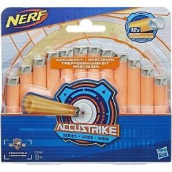 Dardos Nerf Elite 12 dardos accustrike Hasbro