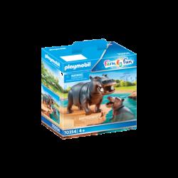 Playmobil 70354 Hipopótamo con Bebé Family Fun