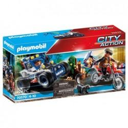 Playmobil 70570 Vehículo Todoterreno de Policía: persecución del ladrón de tesoros. City Action