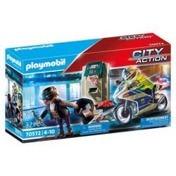 Playmobil 70572 Moto de Policía: persecución del ladrón de dinero City Action