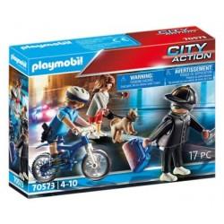 Playmobil 70573 Bici Policial: persecución del carterista City Action