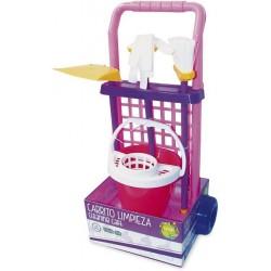 Carrito limpieza juguete cubo fregona escoba y recogedor