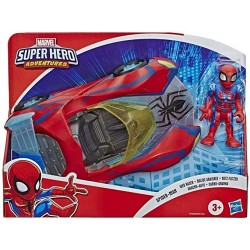 Coche y figura de Spiderman 13cm Super Hero Adventures