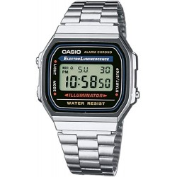 Reloj Casio plateado A168WA-1Y