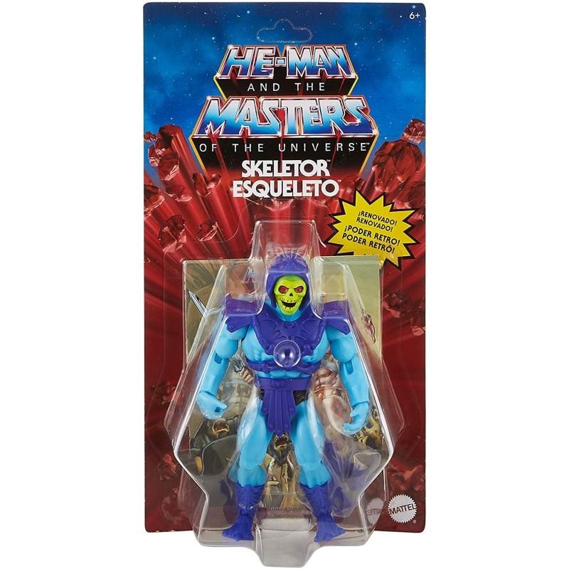 Muñeco Skeletor Masters of the Universe Mattel GNN88 15cm Incluye Comic