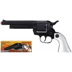 Revolver Oeste 12 tiros negro en caja Gonher Metalico Edad +3 años