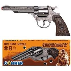 Revolver juguete Oeste 8 tiros en caja Gonher Metalico Edad +3 años