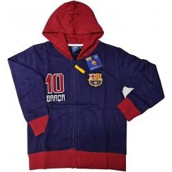 Sudadera niño Fútbol Club Barcelona con gorro número 10 de Messi