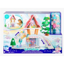 Enchantimal Chalet en la Nieve GJX50 Mattel Bevy Bunny y Jump