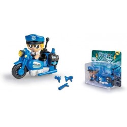 Pinypon Action- Figura Moto policía con accesorios