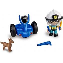 Pinypon Action- Segway vehículo de policía con 1 Figura Famosa