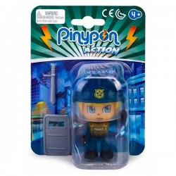 Pinypon action  policía antidisturbios con escudo y porra
