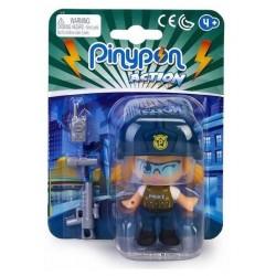 Pinypon action mujer policía con pistola linterna y walkie talkie