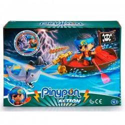 Pinypon Action- Bote pirata y tiburón