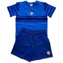 Pijama Valencia Club de Fútbol verano niño azul tallas 6 a 14