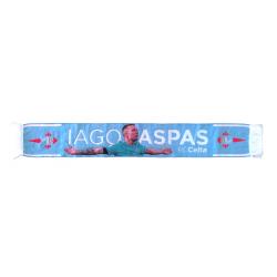 Bufanda Real Club Celta de Vigo IAGO ASPAS alta definición 130x20cm