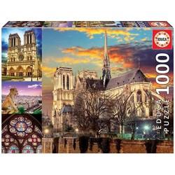 Puzzle 1000 piezas Collage de Notre Dame Educa Borras