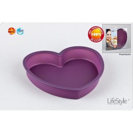 Molde silicona bizcocho corazón