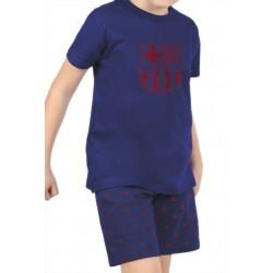 Fútbol Club Barcelona pijama niño verano azul marino