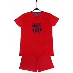 Fútbol Club Barcelona pijama niño verano rojo