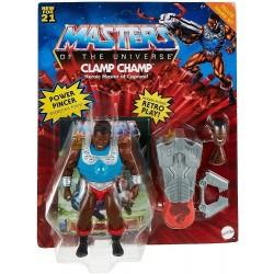 Masters of the Universe Figura Clamp Champ Deluxe muñeco articulado con accesorios Mattel GVL79