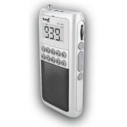 Mini radio transistor Sami RS-12601 Micro SD, bateria recargable USB pantalla LED