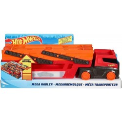 Hot Wheels Mega Camión transporta coches