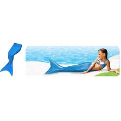 Cola de Sirena Azul con aleta talla para 8 a 12 años