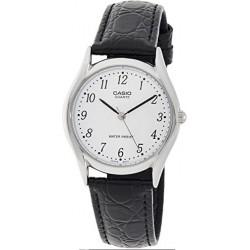 Reloj Casio Caballero MTP-1094E-7B caja de acero correa piel negra