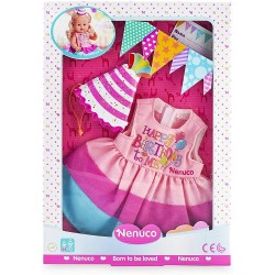 Ropa Nenuco para muñecos Nenuco talla S vestido con gorrito cumpleaños