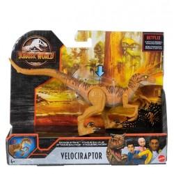 Jurassic World Dinosaurio articulado Velociraptor Mattel HBX32 Camp Cretaceous ataque salvaje