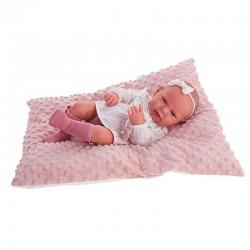 Muñeca recién nacida Lea con cojín 42cm Antonio Juan 50157 con expresión facial real