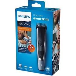 Philips BT5502/16 Barbero y cortapelos con 40 Posiciones de Longitud, Resistente al Agua y Cuchillas metálicas autoafilables