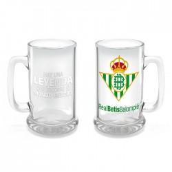 Jarra de Cerveza Real Betis Balompié cristal capacidad 28cl Hay una leyenda que recorre el mundo entero