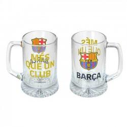 Jarra de cerveza Fútbol Club Barcelona cristal capacidad 28cl MÉS QUE UN CLUB