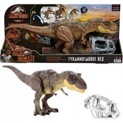 Dinosaruio T-Rex pisa y...