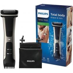 Philips Serie 7000 BG7025/15 - Afeitadora corporal con cabezal de recorte y de afeitado 80 minutos de uso apta para la ducha