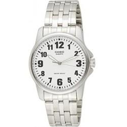 CASIO Reloj con Correa de Acero Inoxidable MTP-1260D-7B callero esfera blanca