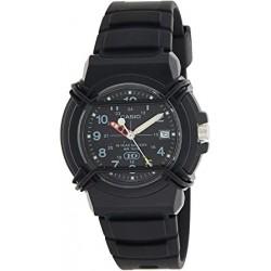 Reloj casio HDA-600B-1BV caballero analógico con calendario correa de caucho protector de cristal