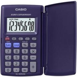 Caculadora Casio Euro conversión HL-820VER 8 dígitos tamaño bolsillo