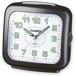 Despertador Casio TQ-359-1EF alarma repetición y con luz, color negro