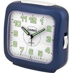 Despertador Casio TQ-359-2D alarma repetición y con luz, color azul