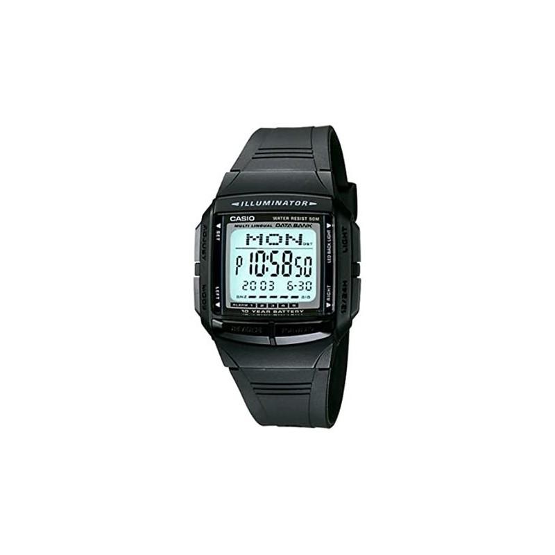 Reloj de Pulsera CASIO DB-36-1AV Digital para Unisex Color Negro Correa Goma