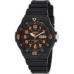 Reloj de Pulsera CASIO MRW-200H-4B Analógico para Hombre Color Naranja Correa Resina