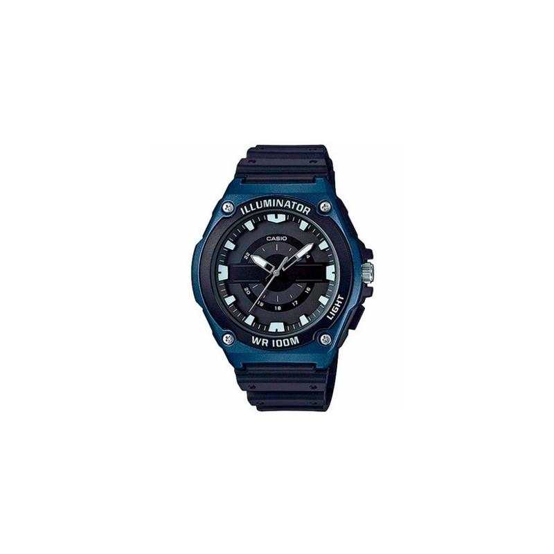 Reloj de Pulsera CASIO MWC-100H-2A Analógico para Hombre Color Negro Correa Resina
